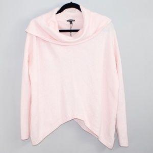 Express Light Pink Cowl Relax Drape wool sweater